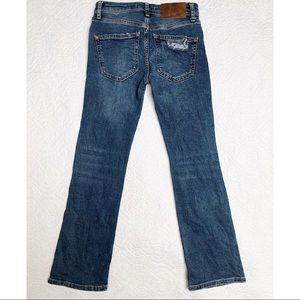 Free People Jeans - Free People Boot Cut Dark Insert Jeans Sz 24